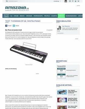 Test: Thomann DP-26, Digitalpiano