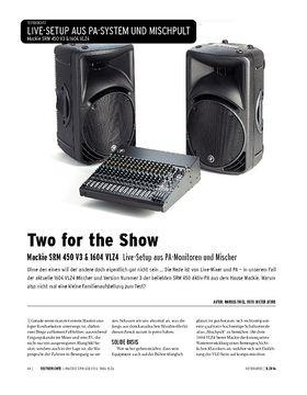 Mackie SRM 450 V3 & 1604 VLZ4 - Live-Setup aus PA-Monitoren und Mischer