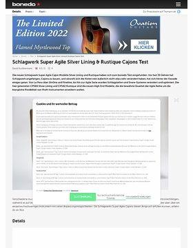 Schlagwerk Super Agile Silver Lining & Rustique Cajons