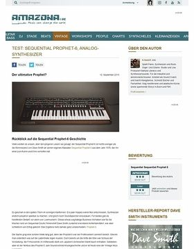 Test: Sequential Prophet-6, Analog-Synthesizer