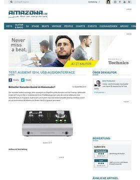 Test: Audient iD14, USB-Audiointerface