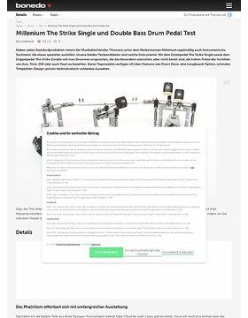 Millenium The Strike Single und Double Bass Drum Pedal