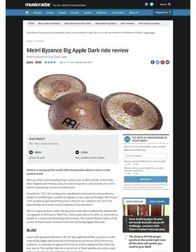Meinl Byzance Big Apple Dark ride