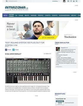 Roland System-100, Software-Synthesizer für System 1/1m