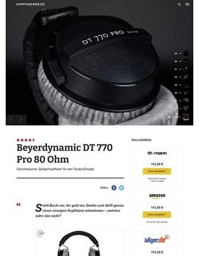 Beyerdynamic DT-770 Pro 80 Ohm