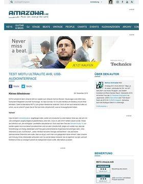 Test: MOTU UltraLite AVB, USB-Audiointerface
