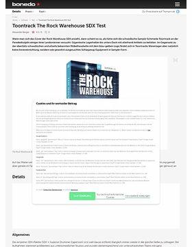 Toontrack The Rock Warehouse SDX