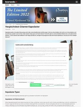 Gitarren Kapodaster im Vergleich