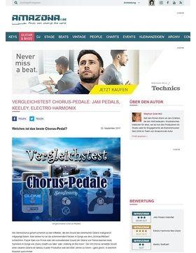 Vergleichstest Chorus-Pedale: Jam Pedals, Keeley, Electro Harmonix