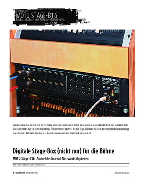 MOTU Stage-B16 - Audio-Interface mit Netzwerkfähigkeiten