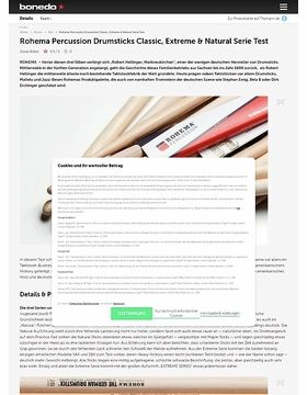 Rohema Percussion Drumsticks Classic, Extreme & Natural Serie Test