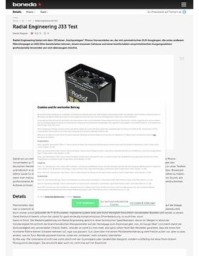 Radial Engineering J33 Test