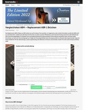 Vergleichstest ABM - Replacement ABR-1 Brücken