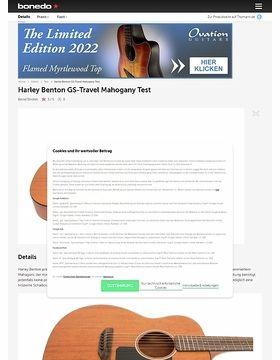 Harley Benton GS-Travel Mahogany