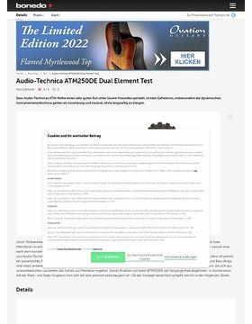 Audio-Technica ATM250DE Dual Element