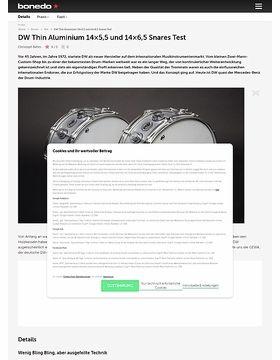DW Thin Aluminium 14x5,5 und 14x6,5 Snares