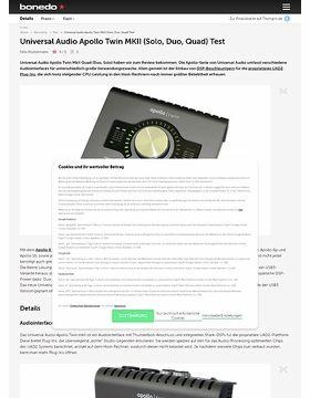 Universal Audio Apollo Twin MKII (Solo, Duo, Quad)
