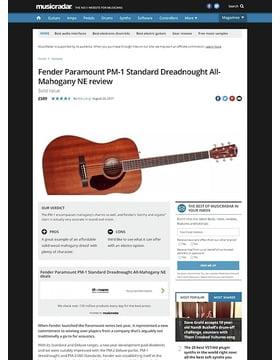 Fender Paramount PM-1 Standard Dreadnought All-Mahogany NE