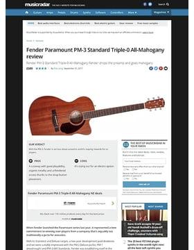 Fender Paramount PM-3 Standard Triple-0 All-Mahogany