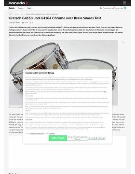Gretsch G4160 und G4164 Chrome over Brass Snares