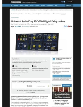 Universal Audio Korg SDD-3000 Digital Delay
