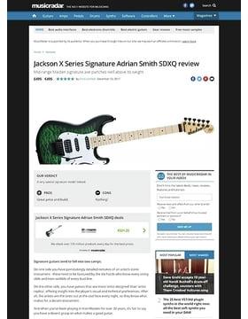 Jackson X Series Signature Adrian Smith SDXQ