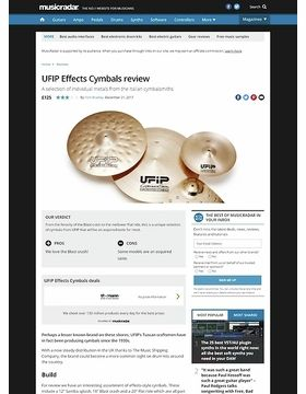 UFIP Effects Cymbals