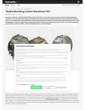 Yamaha Recording Custom Snaredrums