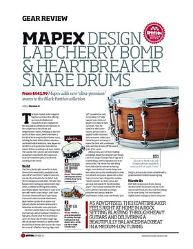 Mapex Design Lab Cherry Bomb & HeartBreaker Snare Drums