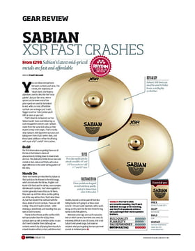 Sabian XSR Fast Crashes