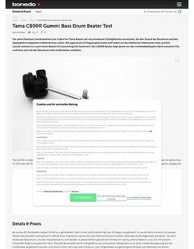 Tama CB90R Gummi Bass Drum Beater