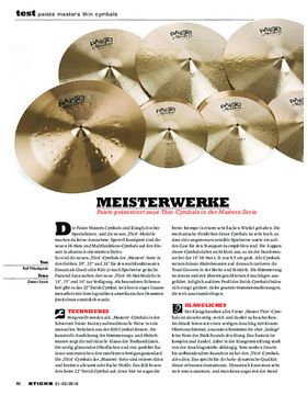 Paiste Masters Thin Cymbals