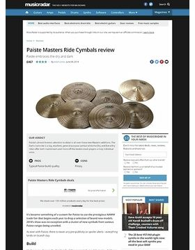 Paiste Masters Ride Cymbals