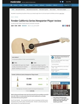 Fender California Series Newporter Player