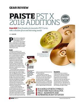 Paiste PST X 2018 Additions
