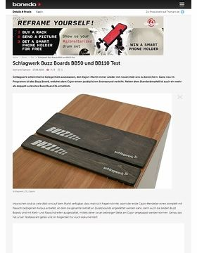 Schlagwerk Buzz Boards BB50 und BB110