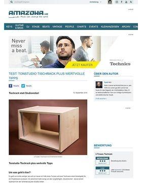 Tonstudio Tischrack plus wertvolle Tipps