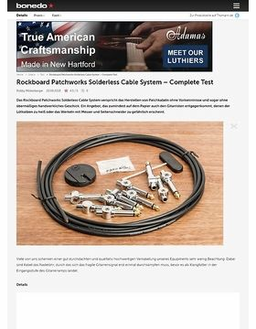 Rockboard Patchworks Solderless Cable System