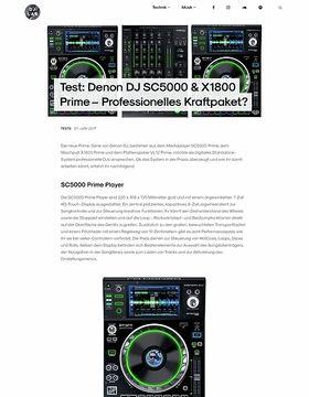 Denon DJ SC5000 & X1800 Prime