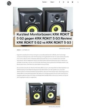 KRK ROKIT 5 G2 gegen KRK ROKIT 5 G3