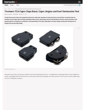 Thomann TCA Cajon Claps Black, Cajon Jingles und Foot Tambourine