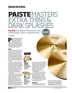 Paiste Masters Extra Thins Dark Splashes