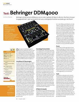 Test: Behringer DDM 4000