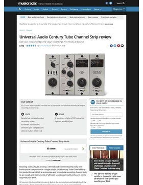 Universal Audio Century Tube Channel Strip