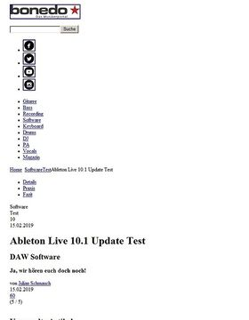 Ableton Live 10.1 Update