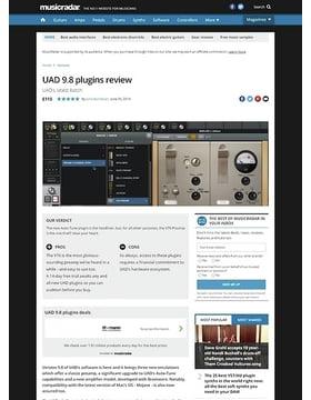 UAD 9.8 plugins