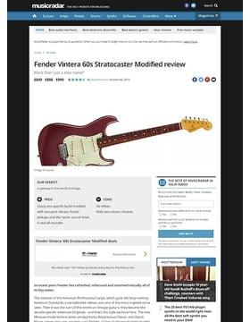 Fender Vintera 60s Stratocaster Modified