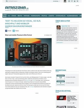 TC-Helicon GO VOCAL und GO XLR