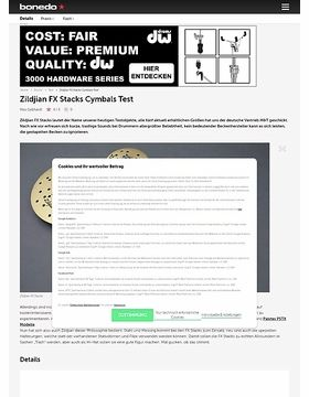 Zildjian FX Stacks Cymbals Test