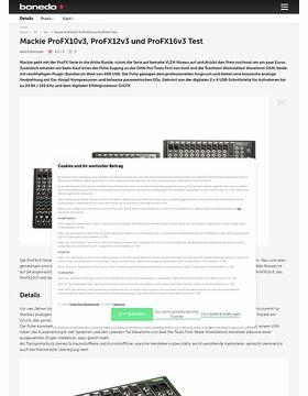 Mackie ProFX10v3, ProFX12v3 und ProFX16v3